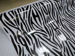 Wholesale animal roll - Impressive Zebra Camo Vinyl For Car Wrap With air bubble Free Printed   PAINTED Camouflage Car wrapping stickers 1.52x10m 20m 30m Roll
