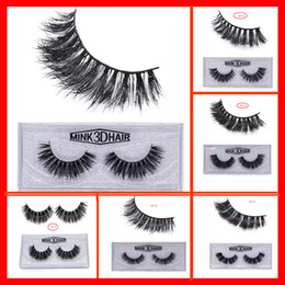 Wholesale lashes extension - 22styles 3D Mink False Eyelashes makeup 100% Real Mink Natural Thick False Fake Eyelashes Eye Lashes Makeup Extension Beauty Tools