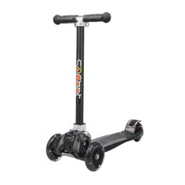 Wholesale Balance Hand - Foldable Scooter Adjustable Hand Bar Height Folding 4 Wheel Child Scooter With Rear Foot Brake Learning Balance For Children New