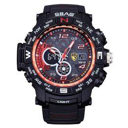 Wholesale Famous Electronics - SBAO Fashion Sport Watch Men Top Brand Luxury Famous Electronic LED Digital Wrist Watches For Men Male Clock Relogio Masculino