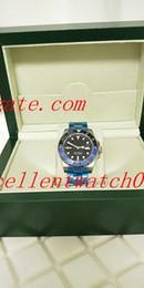 Wholesale Eta Mechanical Movement - Original Box+Hot sale 40mm GMT 116719 116719 Pepsi Stainless Steel Asia ETA 2813 Movement Automatic Mens Watch Watches
