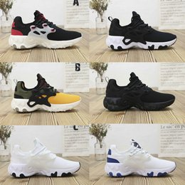 gold elements Promo Codes - Originals React Element 87 Presto BR Womens Mens Running Shoes white black Breathe Sneakers sport 36-45