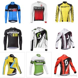 cef4752d1 Spring Autumn scott Long Sleeve Cycling Jersey 2018 Pro Team Mtb Bicycle  Tops Men Breathable Mountain Bike Wear Cycling Clothing F0901