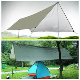 Colchón de picnic online-Colchoneta impermeable para acampar 3 * 4M Colchoneta para exteriores Tienda de tela Múltiples funciones Toldo Lonas Canopy Estera de picnic LJJO5662
