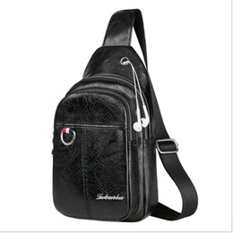 Wholesale Man Boobs - 2018 New Fashionable European and American men's small boobs shoulder bag shoulder shoulder bag new fashionable outdoor sports leisure bag