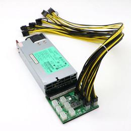 Wholesale Pci Laptop - GPU Mining Power Supply Kit - 1200W PSU, Breakout Board, 12pcs PCI-E 6Pin Cables