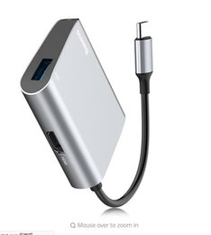 Wholesale Hub Charger - New Baseus Enjoyment Series HDMI + USB 3.0 Interface Hub Adapter for Windows 8   10   Mac OS X 10 and above with LED