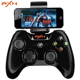 Wholesale mfi certified - PXN Portable Joystick Vibration Handle Gamepad MFi Certified Wireless Bluetooth Game Controller For iphone ipad App TV IOS