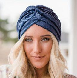 2019 casquettes vintage Moderne Dames Turban Caps Vintage Femmes Crâne Caps Tricoté Mode Indienne Casquettes Loisirs Beanie Extérieure Chapeaux casquettes vintage pas cher