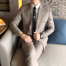 Wholesale New Style Professional Dresses - 2018 Spring And Summer New Gentleman Suit Men's Business Casual Fashion Temperament British Style Professional Dress