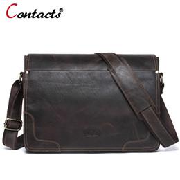 CONTACT S Genuine Leather Bag Men Bags Casual Flap Shoulder Crossbody Bags  Male Shoulder Handbags Messenger Mens Leather Bag Men 3bc8030df23bc