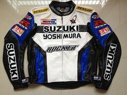 Chaqueta de moto impermeable online-Chaqueta de carreras profesional de la chaqueta de cuero de la motocicleta de motocross de la motocicleta de los hombres de la PU con el equipo de protección