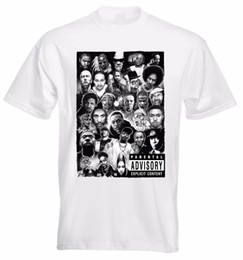 Canada RAP GODS T-SHIRT EMINEM VENTE EN GROS SNOOP DOGG TUPAC GRAND JAY Z NAS T-shirt Classique Comique pour hommes de haute qualité supplier jay z shirts Offre