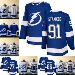 Mens 2017-2018 New Style Tampa Bay Lightning 77 Victor Hedman 86 Nikita  Kucherov 91 Steven Stamkos Blank Hockey Jerseys. by jersey-shop-23 7613cd0d7
