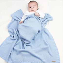 manta de cama de acrílico Rebajas Recién nacidos de acrílico tejido Swaddle Wrap muselina Mantas Super suave Toddler Winter Sleeping ropa de cama funda de bebé Baby Bunny Quilt