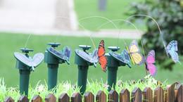 Solar Power Dancing Flying Butterflies Vibrazioni Fly Hummingbird Flying Birds Giardino Decorazione Yard Divertenti giochi all'aperto da