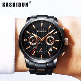 Wholesale Male Japanese Fashion - KASHIDUN Luxury Brand Mens Sports Watches Waterproof Military Watch Male Fashion Casual Japanese Quartz Wristwatches Hot Clock