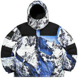 Berg daunenjacke online-Fertige Aktien Berg Down Jacken Snow Mountain Männer und Frauen Mode Dicke Oberbekleidung Daunenjacken HFWPYRF022