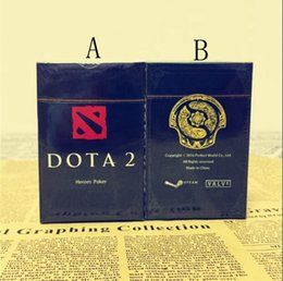 Wholesale play series - DOTA2 Game Around Real Hero Series Poker Board Game Collect Cards Dota Poker Collection Playing Card Games OOA4514