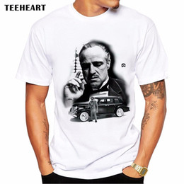 Wholesale Vintage Tee Shirt Designs - Vintage Movie The Godfather T Shirt Men Short Sleeve Custom Design Guys TV Show Summer Tee Shirts Big Size Leisure