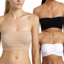 ceffeabf696b3 3 Colors Women Stretch Strapless Bra Bandeau Tube Top Fashion Sexy Womens  Strapless Boob Tube Top Bandeau Bra Opp Package CCA9887 2400pcs
