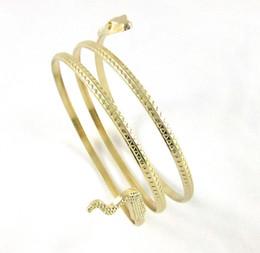 Браслеты для шпагата онлайн-SEDmart Twine Bracelets Gold Silver Color Ophidian Shape Bracelet For Women High Quality Charm Fashion Jewelry Girl Gift 2018
