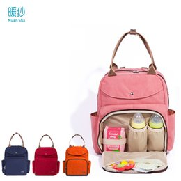 2020 сумки для мам Nuan Sha  Wet Bag Waterproof Baby Diaper Nappy Changing Mother Mummy Backpack Shoulder Bag Handbag Nylon Baby Bags for Mum скидка сумки для мам