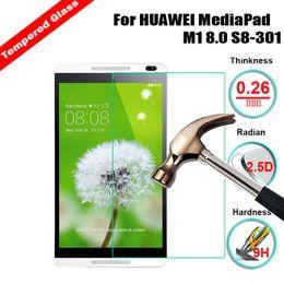 Для Huawei Mediapad M1 M2 8.0 S8-301 Закаленное стекло-экран протектор 2.5D 9H Защитная защитная пленка на M2-801L M2-801w M2-803L M2-802L от