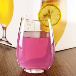 rubinrote kristallgläser Rabatt Glas Wein Glas Mousse Tasse Eierbecher Saft Getränk Getränk Wein Bar Tisch Wein Glas