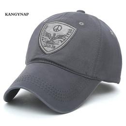d4e8e64eb53  KAGYNAP  Trucker Caps fashion Men Baseball Caps Embroidery Eagle Dad Hat  Casquette Snapback hats cotton Casual Hats Adjustable