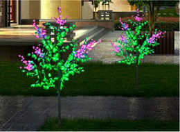 Wholesale Pink Plastic Christmas Tree - 1.5m 5ft Height Outdoor waterproof Artificial Christmas Tree light 480pcs LEDs Pink Flower + Green Leaf new Home Decor LLFA