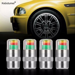 valve cap pressure Promo Codes - Kebidumei 4 PCS Tire pressure monitoring system Air Alert Tire Pressure Monitoring Tools Kit Tyre Auto Car Tyre Air Valve Cap