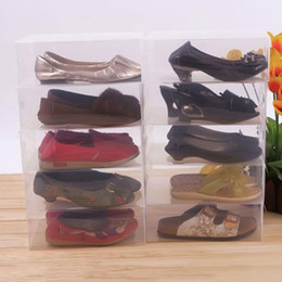 caixa de inicialização clara Desconto 10 Pcs Transparente Limpar Caixa De Bota De Sapato De Plástico Empilhável Dobrável Organizador De Armazenamento Clamshell Uso Doméstico Casa Multifuncional