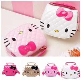Wholesale Girls Mini Handbags - Girls Cute Shoulder Bag Children Cartoon Bowknot Handbag Kids Tote Girls Shoulder Bag Mini Bag PU Crossbody bags KKA4165
