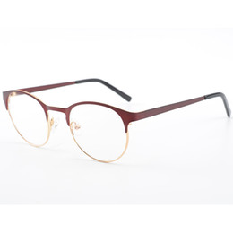 97d2cbb00a2 Stylish Round Vintage Women Optical Metal Glasses Cat Eye Glasses Frames  Prescription Myopia Spectacle Frames