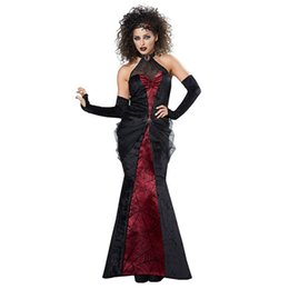 360e0fe988de5 High quality new devil bride cosplay play sexy long skirt female Halloween  devil vampire queen costume uniform party stage perfo