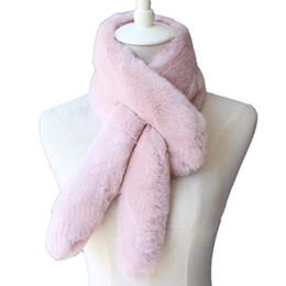 Pescoço aquecedores lenço de pele on-line-Outono Inverno das Mulheres Genuíno Rex Pele De Coelho Anéis De Pescoço Muffler Senhora Quente Cachecol Handmade Neck Warmers VF5029