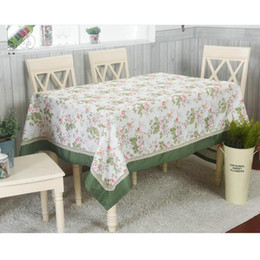 2019 pezzi da tavola per matrimoni La tovaglia floreale con bordo in pizzo fiore fresco stile arredamento tavolo da pranzo stuoie rettangolare stile pastorale tavolo da tè