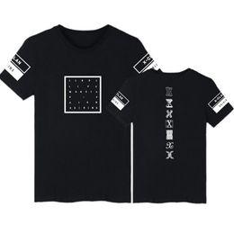 Wholesale Concert Tees - Summer Korean Style K-POP Monsta X T-Shirt Concert Same Print O-Neck Short Sleeve T Shirt Women Tumblr Clothing Tee Shirt femme