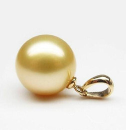 Wholesale 16mm South Sea Pearl Pendant - AAA 16mm South Sea Shell Pearl Pendant 14K Gold Accessories