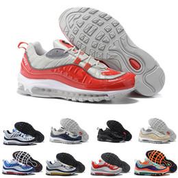 new concept 067a6 67a56 Nike Air Max 98 2018 New Fashion Classic Style 98 Scarpe da corsa per uomo  Scarpe sportive autentiche per uomo Sneakers alte di alta qualità taglia  40-46 ...