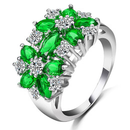 Wholesale Pave Diamond Engagement Ring - Diamond Ring Women Zircon Ring Fashion Jewelry Creative Jewelry 4 Color & 5 Size
