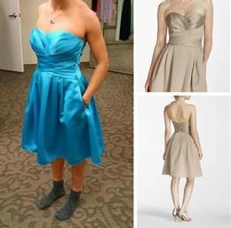 2b1e4e476ad Real Photos A-Line Satin Sweetheart Sleeveless Prom Dresses Short Simple  Party Dresses Knee-Length Bridesmaid Dress