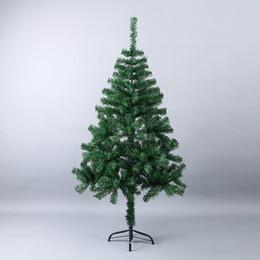 3be68418dc5 150 cm de lujo artificial de plástico árbol de navidad diy decoración base  de hierro árbol de navidad familia hotel año nuevo cifrado navidad