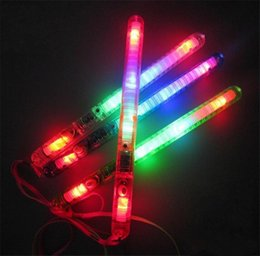 Wholesale Camping Toys For Kids - Button Battery Multi Colorful 7 modes Flashing LED Night Light Wand Glow Sticks Strap Camp for Party Event