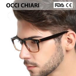 2018 Occhiali di alta qualità Moda quadrato nero maschio montatura in  acetato telaio cerniera a molla occhiali da vista telaio uomo W-COLORI 0a0e9d29dd
