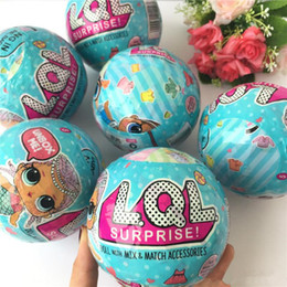 Wholesale Toys For Big Girls - Funny Toy 9.5cm LOL Doll Random Dress Up Baby Tear Open Color Change Egg Dolls serie 2 in the Balls Toys For Girls figurines
