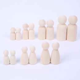 artigianato della bambola diy Sconti Peg Dolls of Big Family (65mm-35mm) Unfinished Unpainted Matrimoni Torta Peg Bambole Decor Fatti A Mano Artigianato FAI DA TE ZA6517
