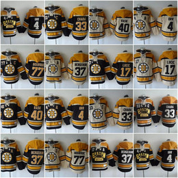 Wholesale Rays Hoodie - Boston Bruins Hoodies Jerseys 4 Bobby Orr 33 Zdeno Chara 37 Patrice Bergeron 77 Ray Bourque 63 Brad Marchand 17 Milan Hockey Hooded Sweats