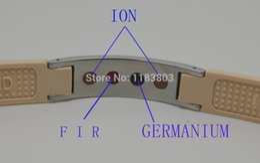 Умный здоровый браслет онлайн-2PCS W TEST VIDEO  Smart Healthy Stylish Bracelet 2000 Ion Band Balance Brown ENERGY WRISTBAND F.I.R Bio Bracelet